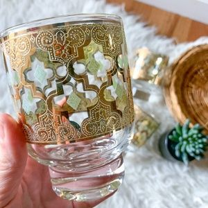 Vintage Culver Valencia 22K Gold and Green Glasses
